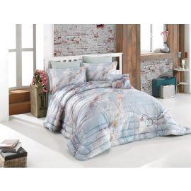 ARMN Casa Marble Blue 4-Piece Single Comforter Set