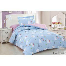 ARMN 4-Piece Kids Cute Bear Single Comforter Set