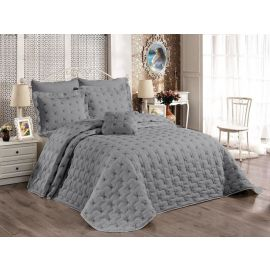 ARMN Chanely Meltem 3-Piece Double Bedspread Set - Gray