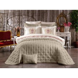 ARMN Chanely Chester 3-Piece Double Bedspread Set - Beige