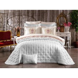 ARMN Chanely Chester 3-Piece Double Bedspread Set - Cream