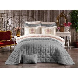ARMN Chanely Chester 3-Piece Double Bedspread Set - Gray