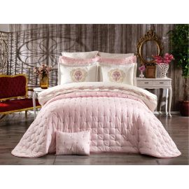 ARMN Chanely Chester 3-Piece Double Bedspread Set - Pink