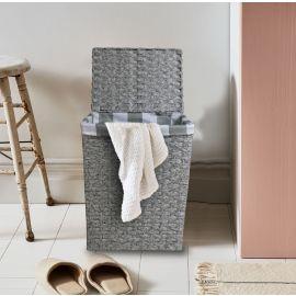 ARMN Wicker Medium Rectangle Laundry Basket - Gray