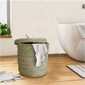 ARMN Nordal Medium Round Laundry Basket - Beige