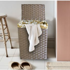 ARMN Wicker Large Rectangle Laundry Basket - Brown