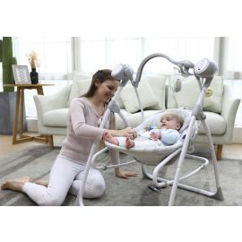 Pupa Zigzag 2-in-1 Electric Baby Swing - Gray