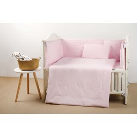 طقم أغطية سرير أطفال 60 سم 4 قطع من Pupa - زهري