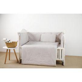 طقم أغطية سرير أطفال 60 سم 4 قطع من Pupa - رمادي