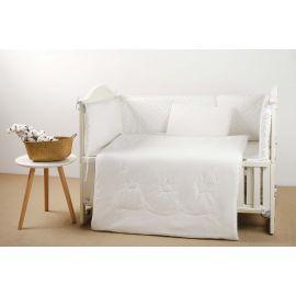 طقم أغطية سرير أطفال 70 سم 4 قطع من Pupa - أوف وايت