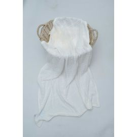 Royal Bedding 90x118 cm Cotton Blanket - White