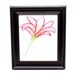 Flower Framed Wall Art - 28 x 33 cm