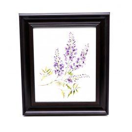 Purple Flowers Framed Wall Art - 28 x 33 cm