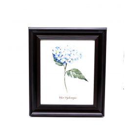 Blue Hydrangea Framed Wall Art - 28 x 33 cm