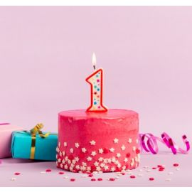 Metaltex Number 1 Birthday Cake Candle