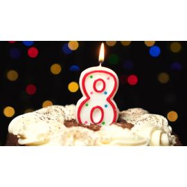 Metaltex Number 8 Birthday Cake Candle