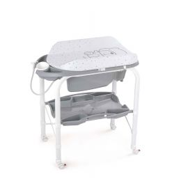 Cam Cambio Changing Table - White & Gray