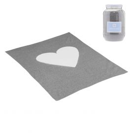 Cambrass Cuore 80 x 100 Cotton Blanket - Gray