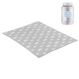 Cambrass Ele 80 x 100 Cotton Blanket - Gray