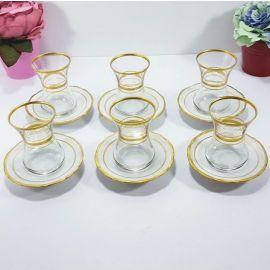 Evoks 12-Piece Tea Set - Gold & White