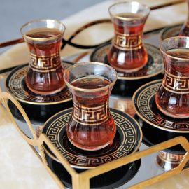 Evoks Versace 12-Piece Tea Set - Black & Gold