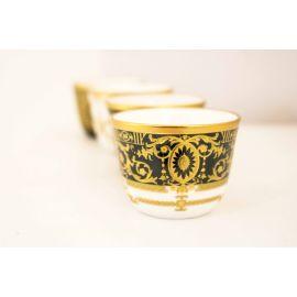 طقم قهوة عربية 6 قطع من Glazze Rosalia - أسود وذهبي