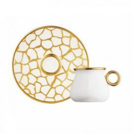 Glazze Larisa 12-Piece Coffee Set - White & Gold