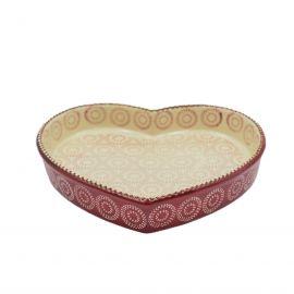 طبق فرن 25 سم بتصميم قلب من Ar-Yildiz Orient - أحمر