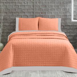 ARMN Marie Claire 3-Piece Double Bedspread Set - Salmon