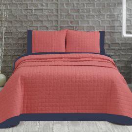 ARMN Marie Claire 3-Piece Double Bedspread Set - Pale Pink