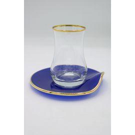 Schafer Natur 12-Piece Tea Set - Navy