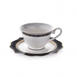 طقم قهوة 12 قطعة من Schafer Dantella - أسود