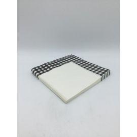 طقم من 20 منديل طعام من ARMN بتصميم مربعات - أسود